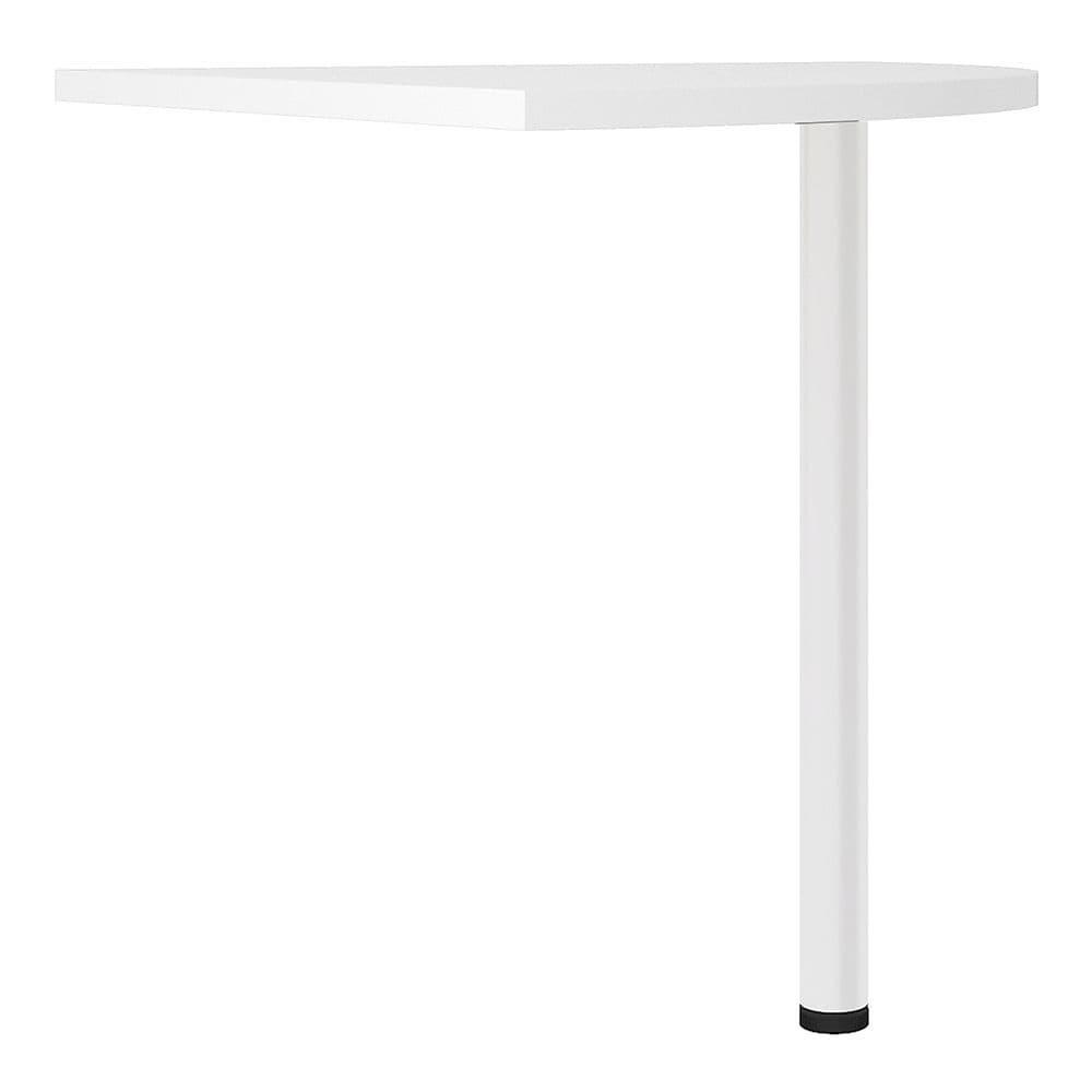 Business Pro Corner desk top in White with White legs in White